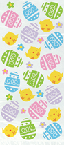 Colourful Easter Egg & Chick Cello Bags 20pk