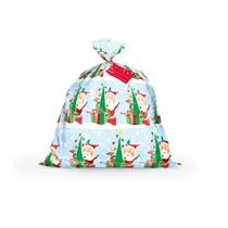 Christmas Santa Jumbo Plastic Gift Bag / Sack