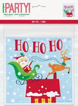 Christmas Santa Zip Lock Treat Bags 20pk
