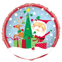 "Christmas Colourful Santa 18"" Foil Balloon"