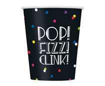 Happy New Year Neon Dots Paper Cups 8pk