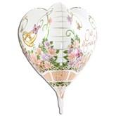 Just Married 3D Flower Foil Balloon