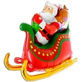 "Christmas 3D Santa's Sleigh 46"" Foil Balloon"