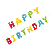 Happy Birthday Card Balloon Letter Banner 9ft