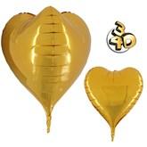 """Gold 3D Heart 23"""" Foil Balloon"""