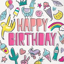 Favourite Things Happy Birthday Napkins 12pk