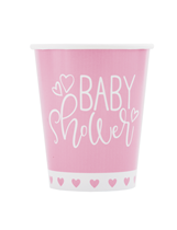 Baby Shower Pink 9oz Paper Cups 8pk