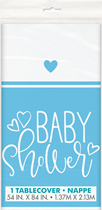 Baby Shower Blue & White Plastic Tablecover