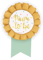 Mum To Be Foil Stamped Baby Shower Badge Rosette