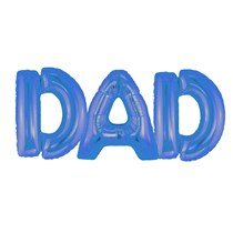 """Father's Day Blue Dad 16"""" Air Fill Foil Balloon"""