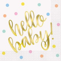 Hello Baby Shower New Baby Lunch Napkins