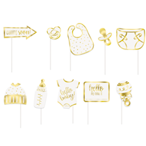 Hello Baby Photo Booth Party Props 10pk