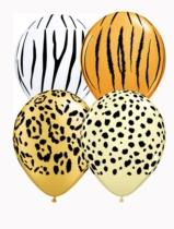 "Safari Assorted 11"" Latex Balloons 25pk"
