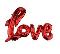 """Red Air Fill 30"""" Love Script Foil Balloon"""