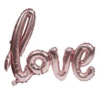 """Pink Air Fill 30"""" Love Script Foil Balloon"""