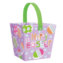 Lilac Easter Paper Board Egg Hunt Bucket