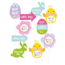 Easter Egg Hunt Clue Signs 10pk