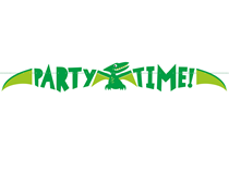 Dinosaur Party Time Banner 4.5ft