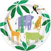 "Animal Safari 9"" Round Paper Plates 8pk"