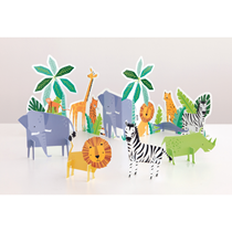 Safari Animal Table Decorationg Kit 5pk