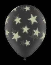 "GloPrint Stars Clear 11"" Latex Balloons 25pk"
