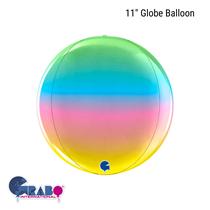 """Rainbow 11"""" Globe Foil Balloon"""