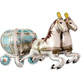 Horse and Wedding Carriage 6ft Foil Balloon