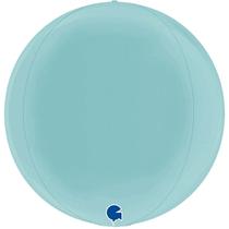 """Grabo Pastel Blue Globe 15"""" Foil Balloon"""