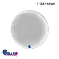 "Silver 11"" Globe Foil Balloon"