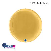 "Gold 11"" Globe Foil Balloon"