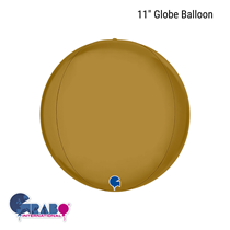"""Satin Gold 11"""" Globe Foil Balloon"""