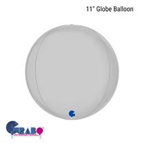 """Satin White 11"""" Globe Foil Balloon"""