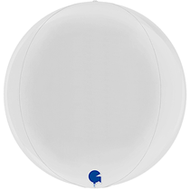 "Grabo White Globe 15"" Foil Balloon"