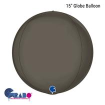 "Platinum Grey 15"" Globe Foil Balloon"