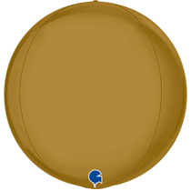 "Grabo Satin Gold Globe 15"" Foil Balloon"
