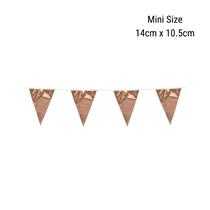 Mini Rose Gold Foil Flag Banner Bunting 3M