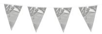 Mini Silver Flag Bunting 3M