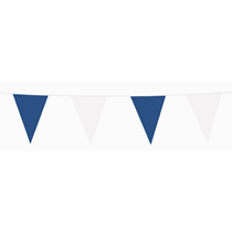 Blue & White Flag Banner Bunting 10m