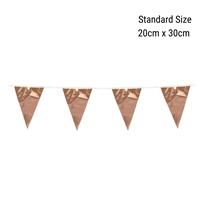 Standard Rose Gold Foil Flag Banner Bunting 10M