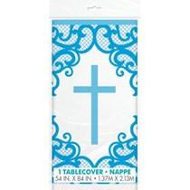 Blue Cross Plastic Tablecover