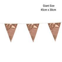 Giant Rose Gold Foil Flag Banner Bunting 10M
