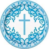 "Blue Cross 9"" Paper Plates 8pk"