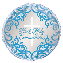 """Blue First Holy Communion 18"""" Foil Balloon"""