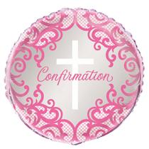 "Pink Cross Confirmation 18"" Foil Balloon"