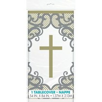 Gold & Silver Plastic Tablecover
