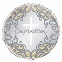 "Gold & Silver Confirmation 18"" Foil Balloon"