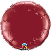 """Burgundy 18"""" Round Foil Balloon"""