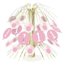 Pink Gingham 1st Birthday Cascade Centrepiece
