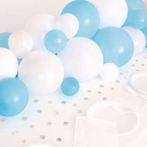 Blue & White Balloon Centrepiece Kit