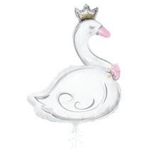 "Giant Princess Swan 42"" Foil Balloon"